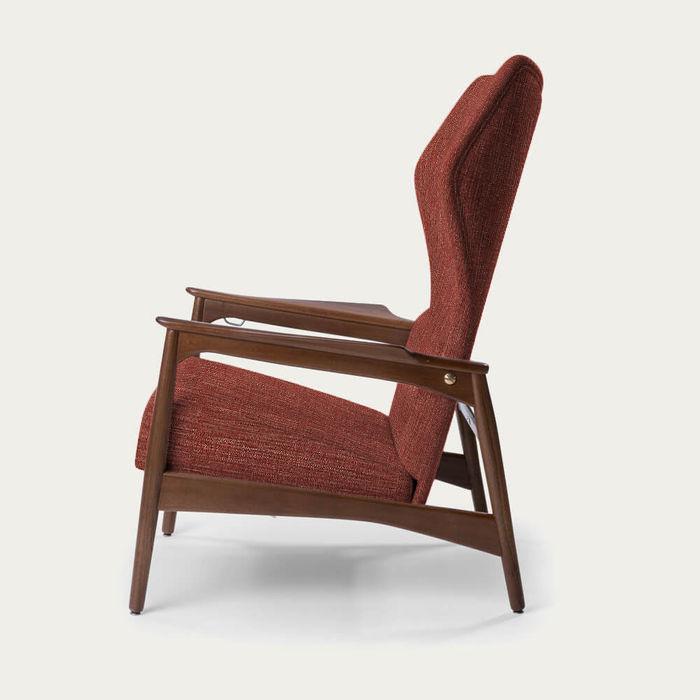 Red/Ash Wood Capri Lounge Chair | Bombinate