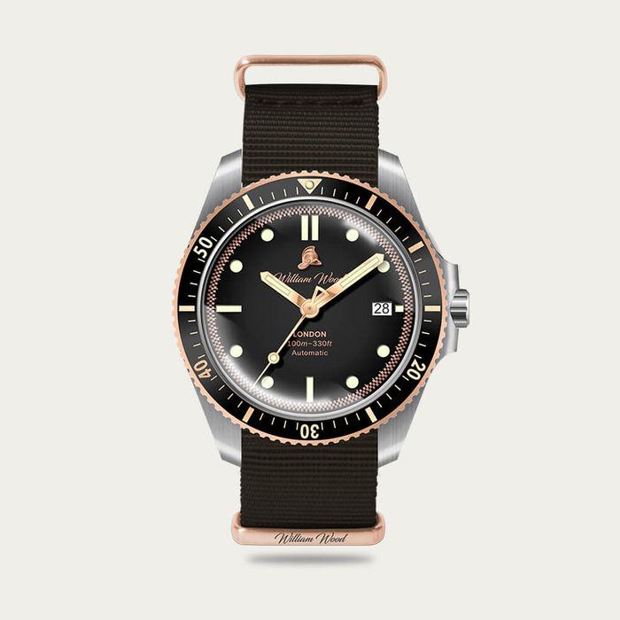 The Valiant Rose Watch / Nato Strap | Bombinate