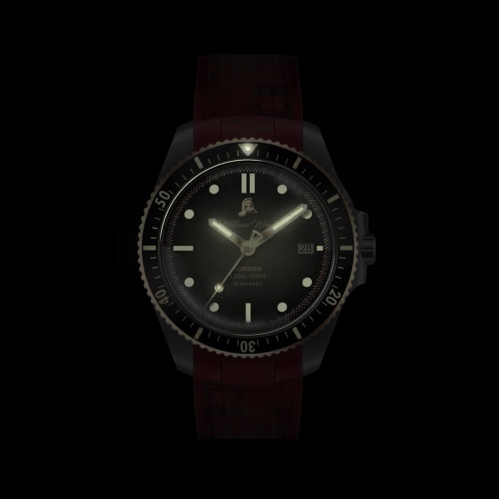 The Valiant Rose Watch / Fire Hose Strap | Bombinate