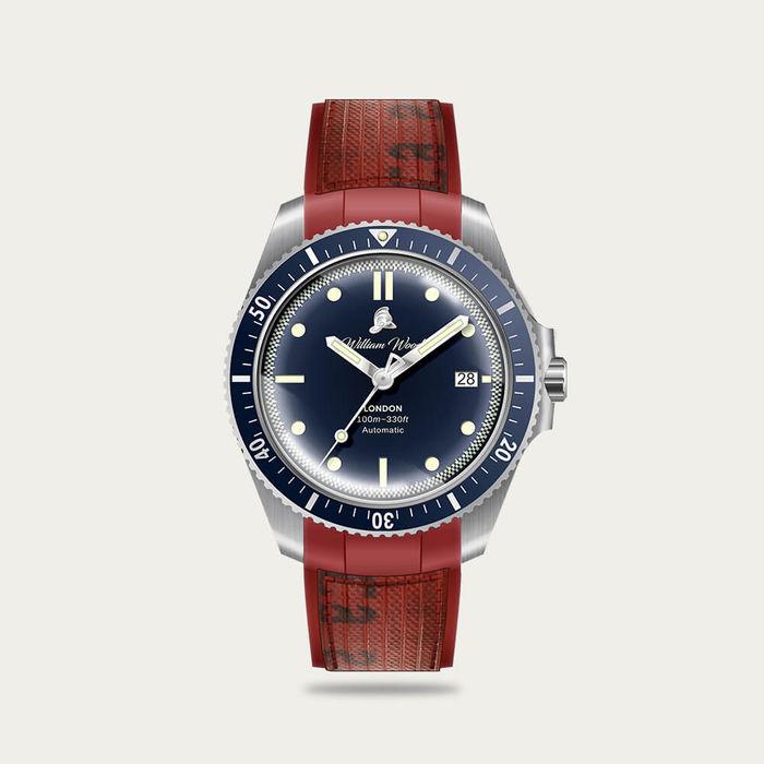 The Valiant Blue Watch / Fire Hose Strap | Bombinate