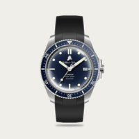 The Valiant Blue Watch / Black Rubber Strap | Bombinate