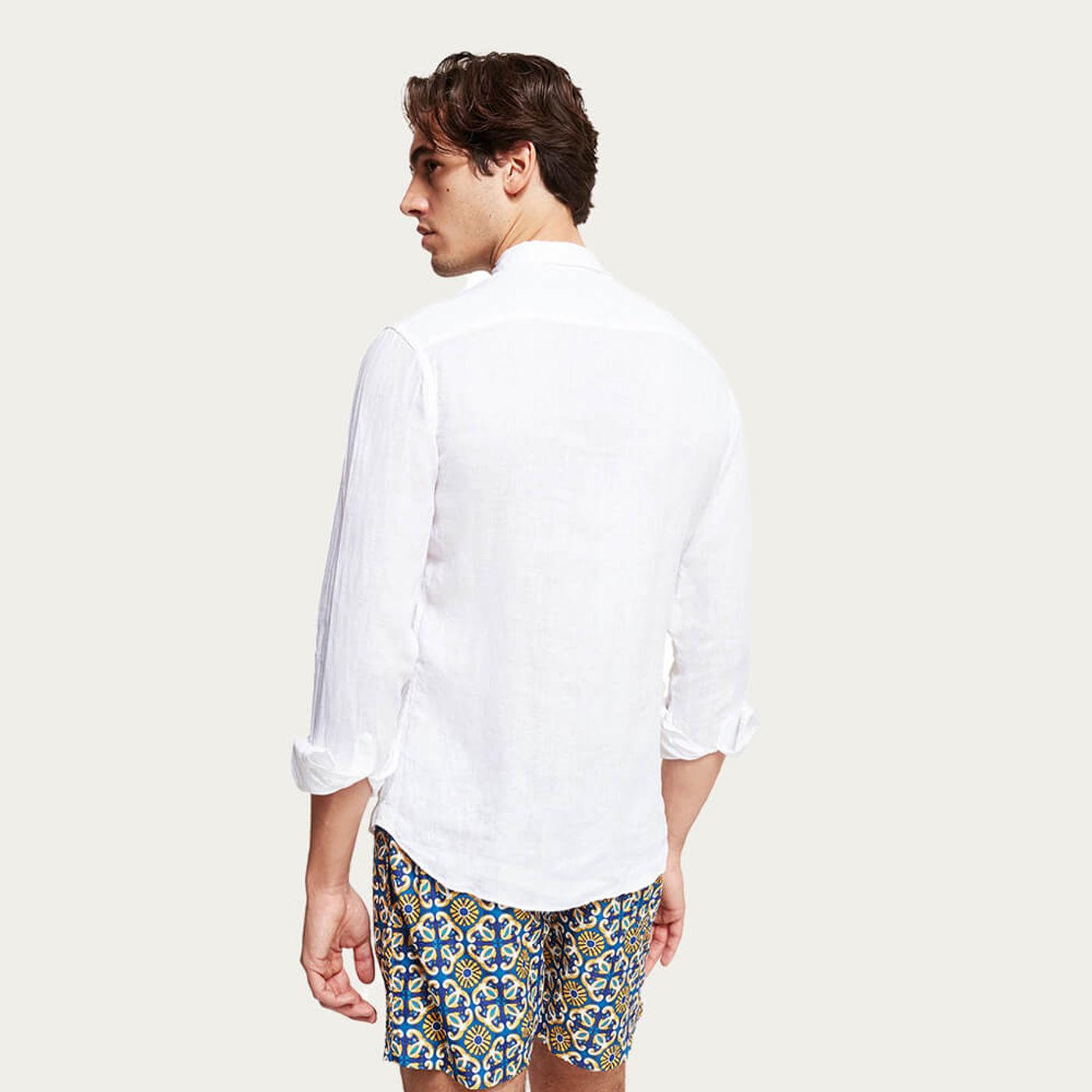 L1 Linen Shirt Spiaggia Bianca | Bombinate