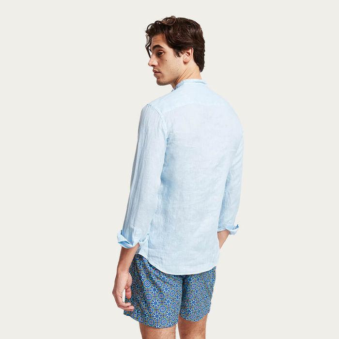L1 Linen Shirt Budelli Korean Collar | Bombinate