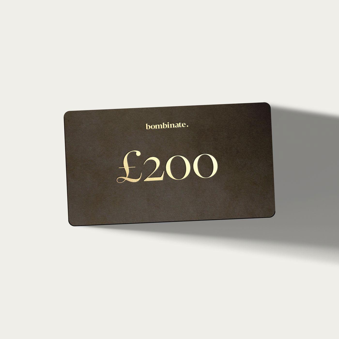 £200 eGift Card   | Bombinate