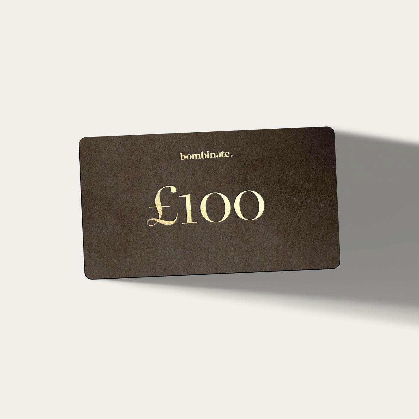 £100 eGift Card     Bombinate