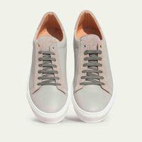 Pearl Grey Leather Taranta Sneakers   3
