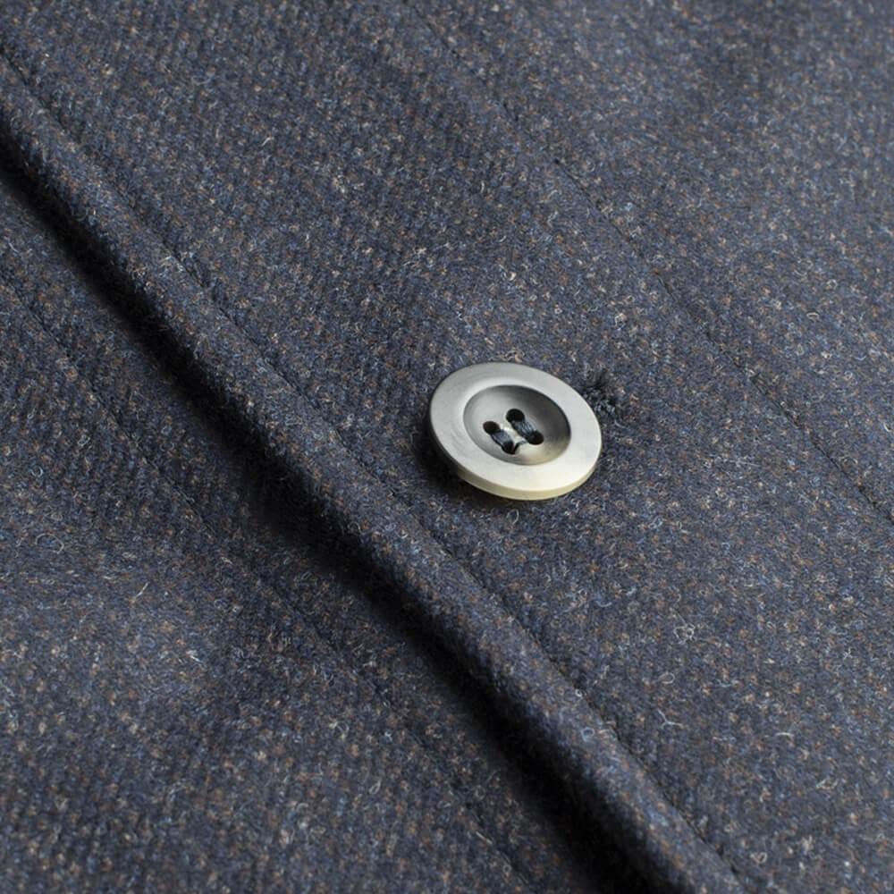 Navy Stripe The Wool Shacket | Bombinate