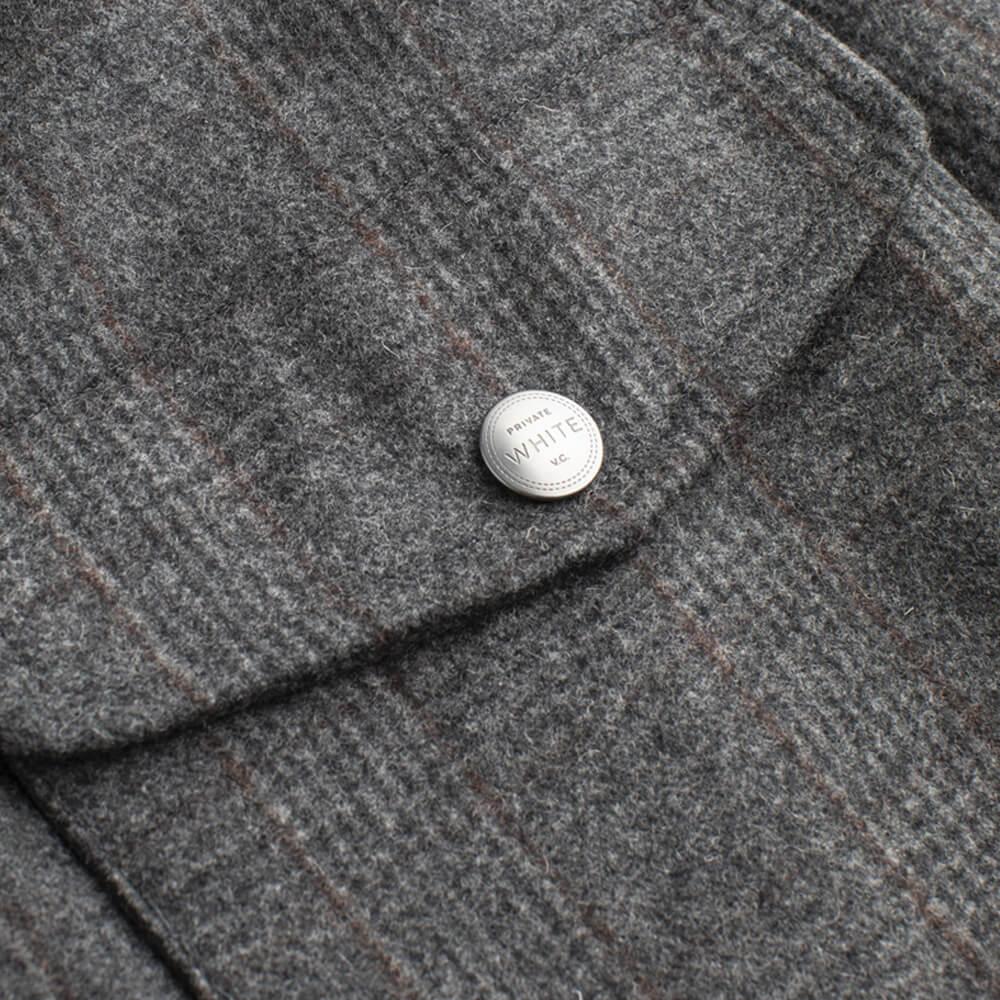 Grey Check The Prince Of Wales Merino Bomber | Bombinate
