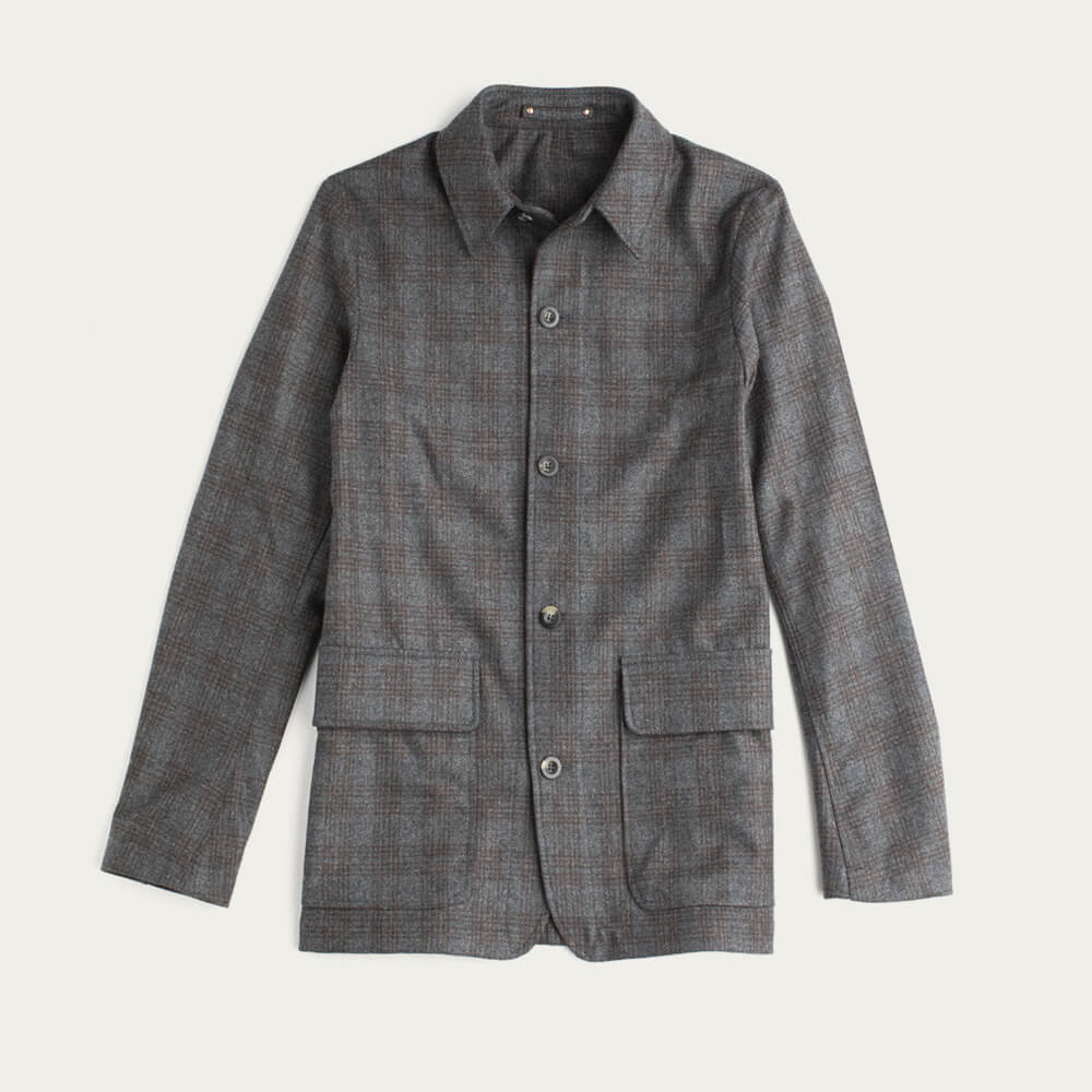 Grey Check The Wool Shacket | Bombinate
