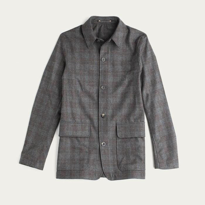 Grey Check The Wool Shacket | Bombinate