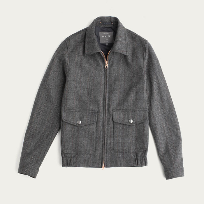 Grey Check The Prince Of Wales Merino Bomber | Bombinate