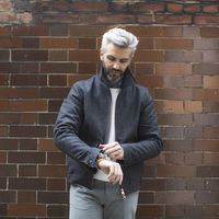 Navy Check The Prince Of Wales Merino Bomber | Bombinate