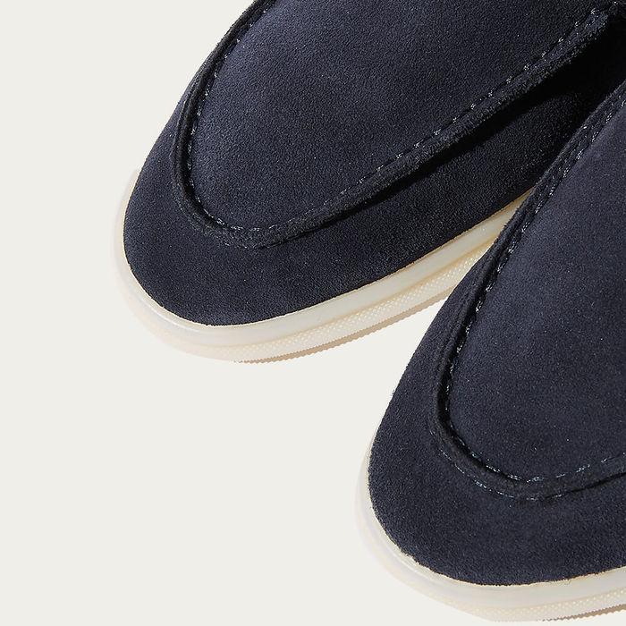 Blue Ludovico Scamosciato Suede Loafers | Bombinate