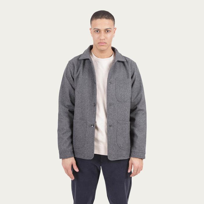 Grey Wool Utility Jacket   Bombinate