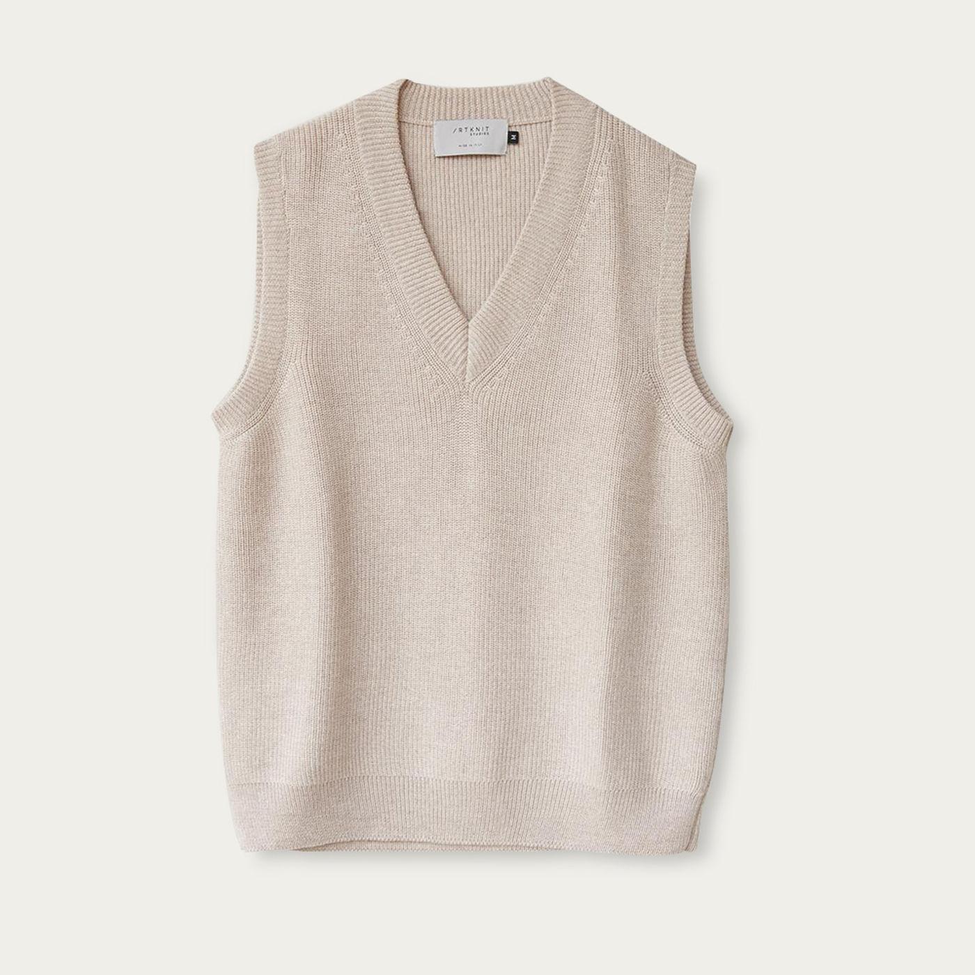 Pearl Merino Wool Vest | Bombinate
