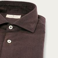 Bordeaux Flannel Herringbone Shirt   Bombinate