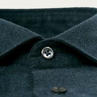 Dark Herringbone Flannel Shirt   Bombinate