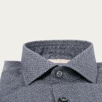 Grey Print Printed Flannel Shirt   Bombinate