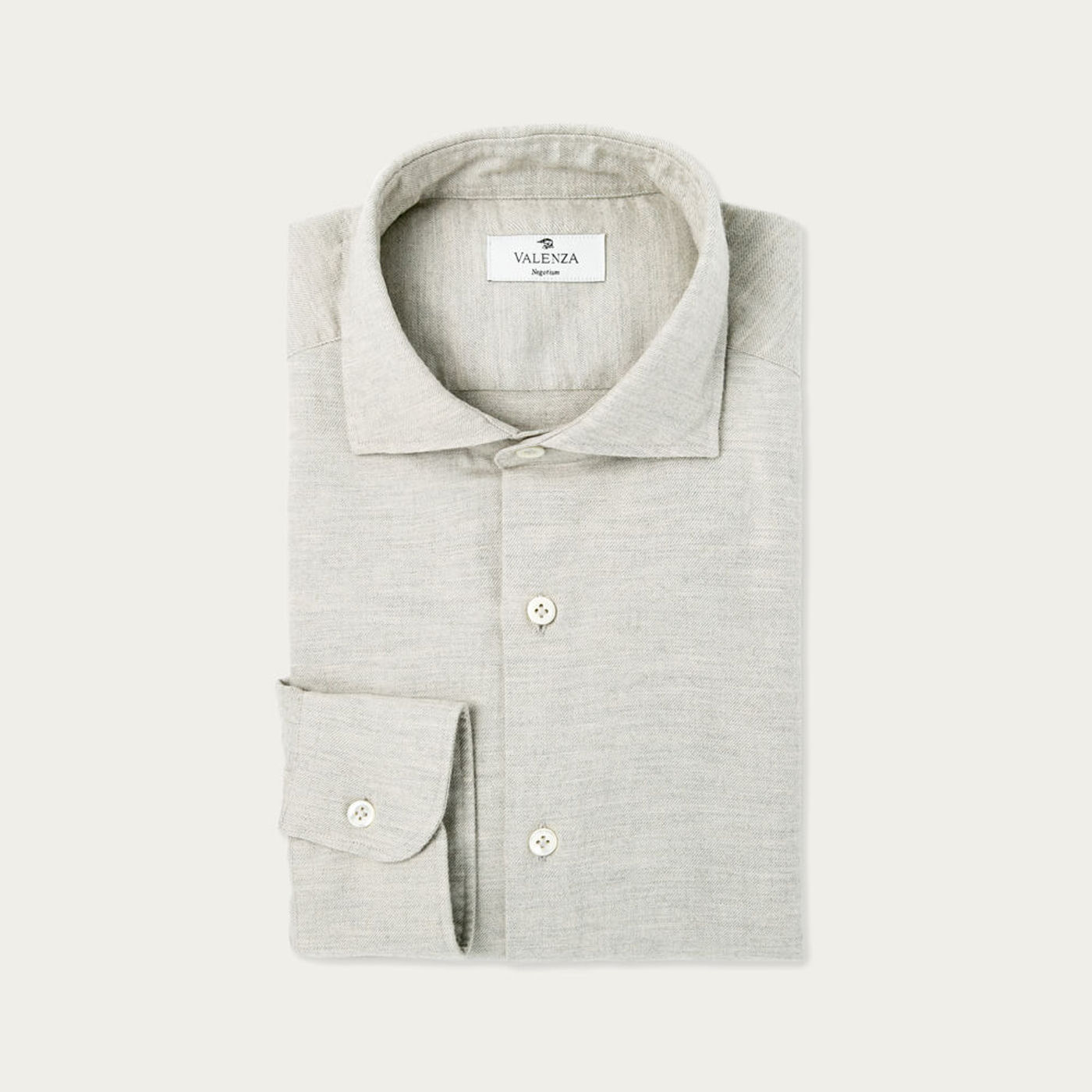 Beige Washed Cashmere Flannel Shirt   Bombinate