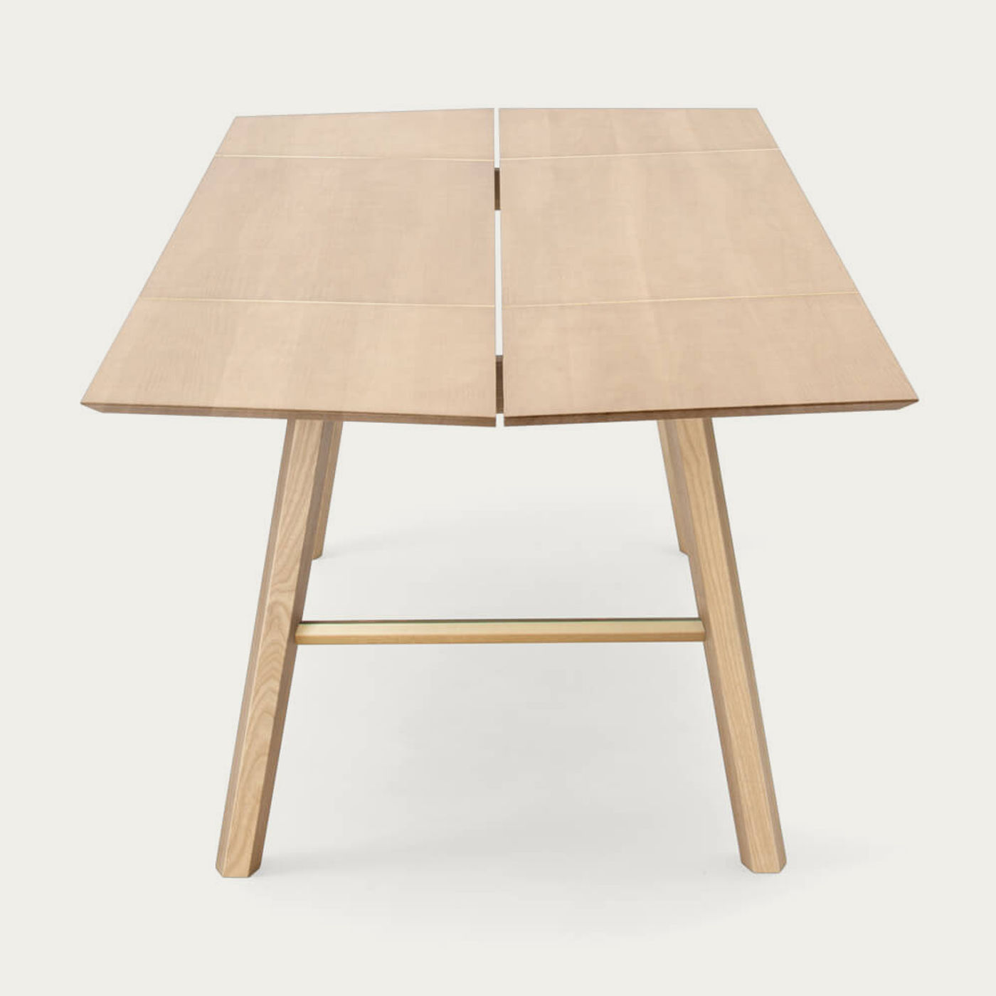 Light Wood/Gold Savia Table   Bombinate