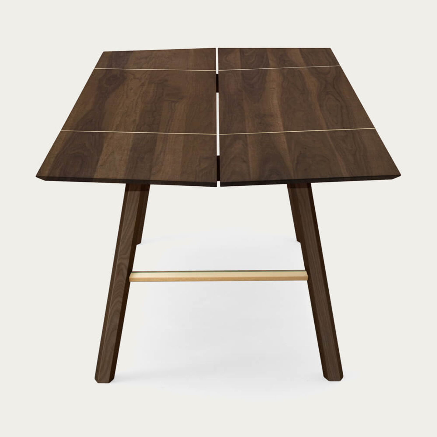 Dark Wood/Gold Savia Table | Bombinate