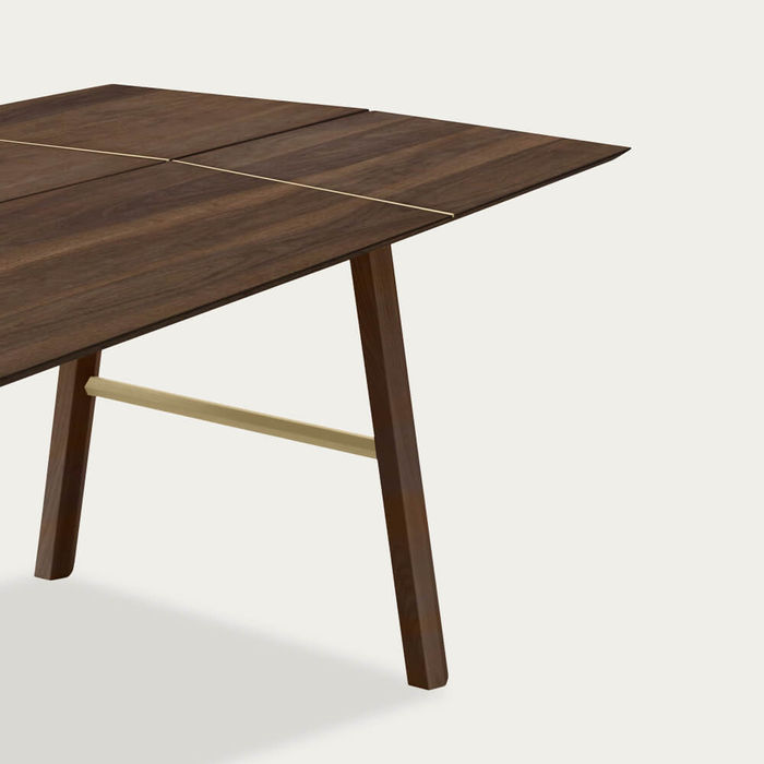 Dark Wood/Gold Savia Table   Bombinate