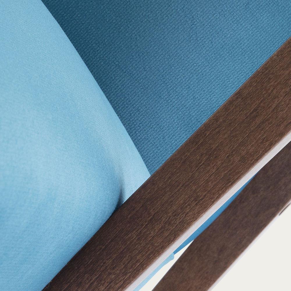 Ocean Blue Retrostar Chair Velvet Line   Bombinate