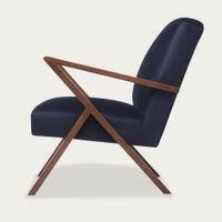Navy Blue Retrostar Chair Velvet Line   Bombinate