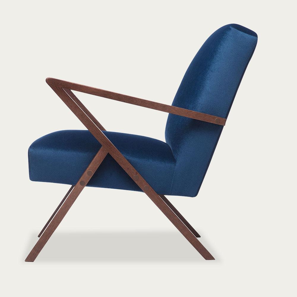 Royal Blue Retrostar Chair Velvet Line | Bombinate