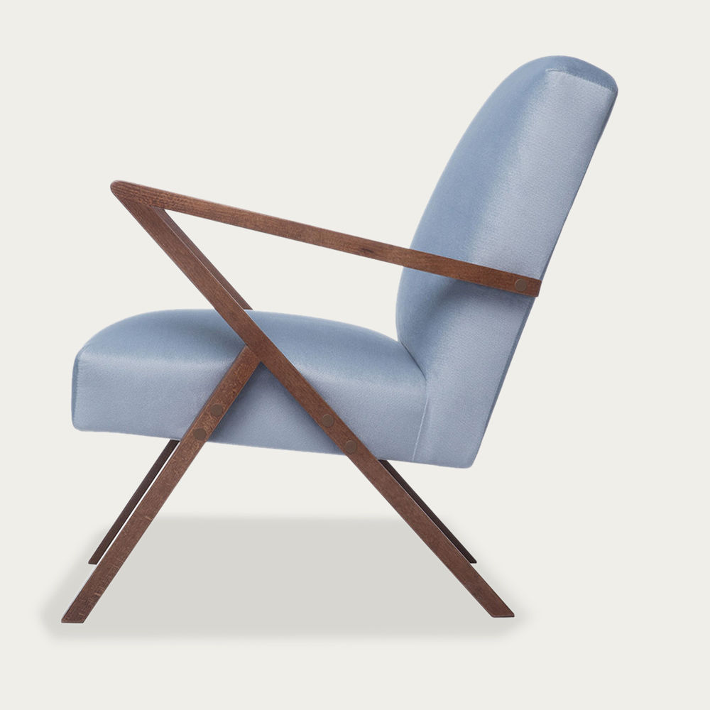 Ice Grey Retrostar Chair Velvet Line | Bombinate