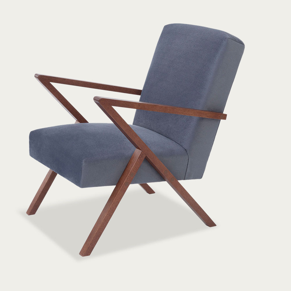 Grey Retrostar Chair Velvet Line | Bombinate