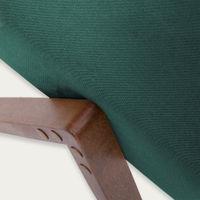Hunter Green Retrostar Footstool Velvet Line | Bombinate
