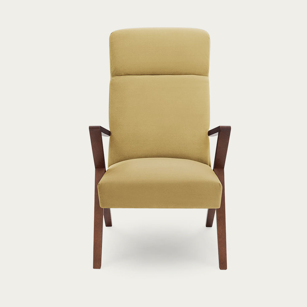 Lemon Retrostar Lounge Chair Velvet Line | Bombinate
