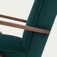 Hunter Green Retrostar Lounge Chair Classic Line With Piping  | Bombinate