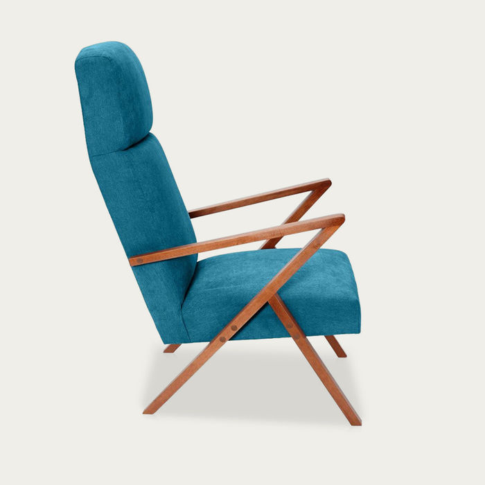 Turquoise Retrostar Lounge Chair Classic Line | Bombinate
