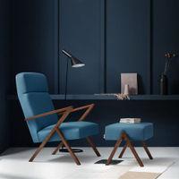 Ocean Blue Retrostar Lounge Chair Velvet Line | Bombinate