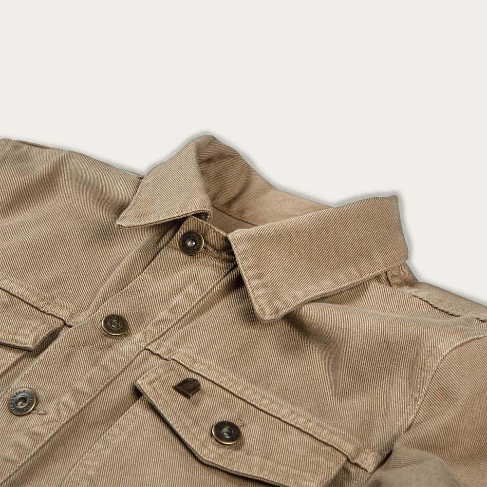 Army Raw Canvas Single Rider Jacket | Bombinate