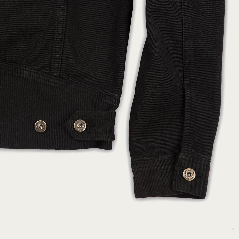 Black Raw Single Rider Canvas Jacket Sapientia Limited Edition  | Bombinate