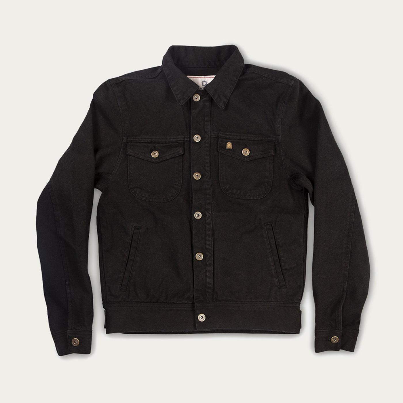 Black Raw Single Rider Canvas Jacket Sapientia Limited Edition  | Bombinate