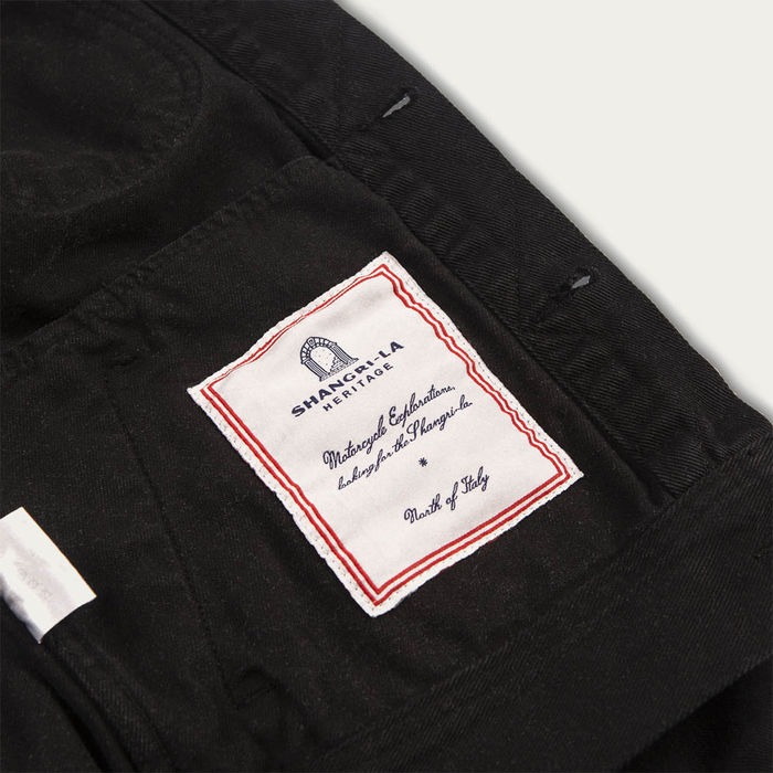 Black Raw Single Rider Canvas Jacket Toro Seduto Limited Edition  | Bombinate