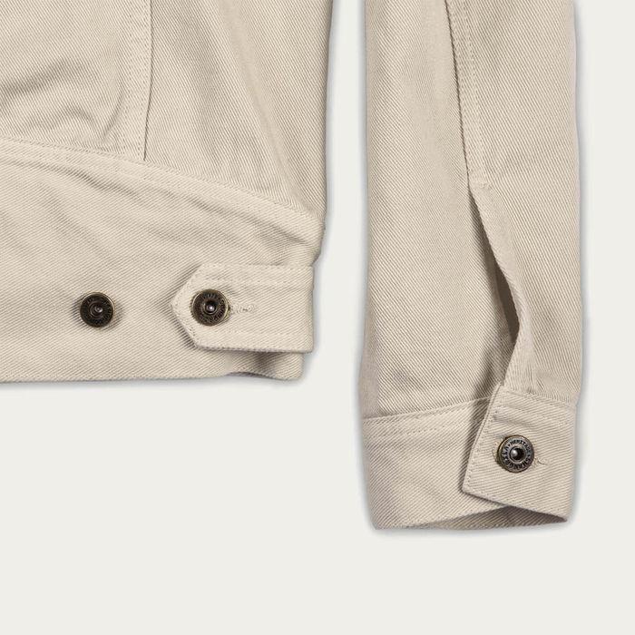 Ivory Raw Canvas Single Rider Jacket | Bombinate