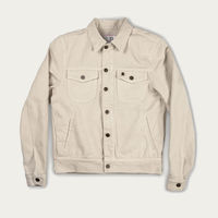 Ivory Canvas Single Rider Jacket Sparviero Navajo Limite Edition  | Bombinate