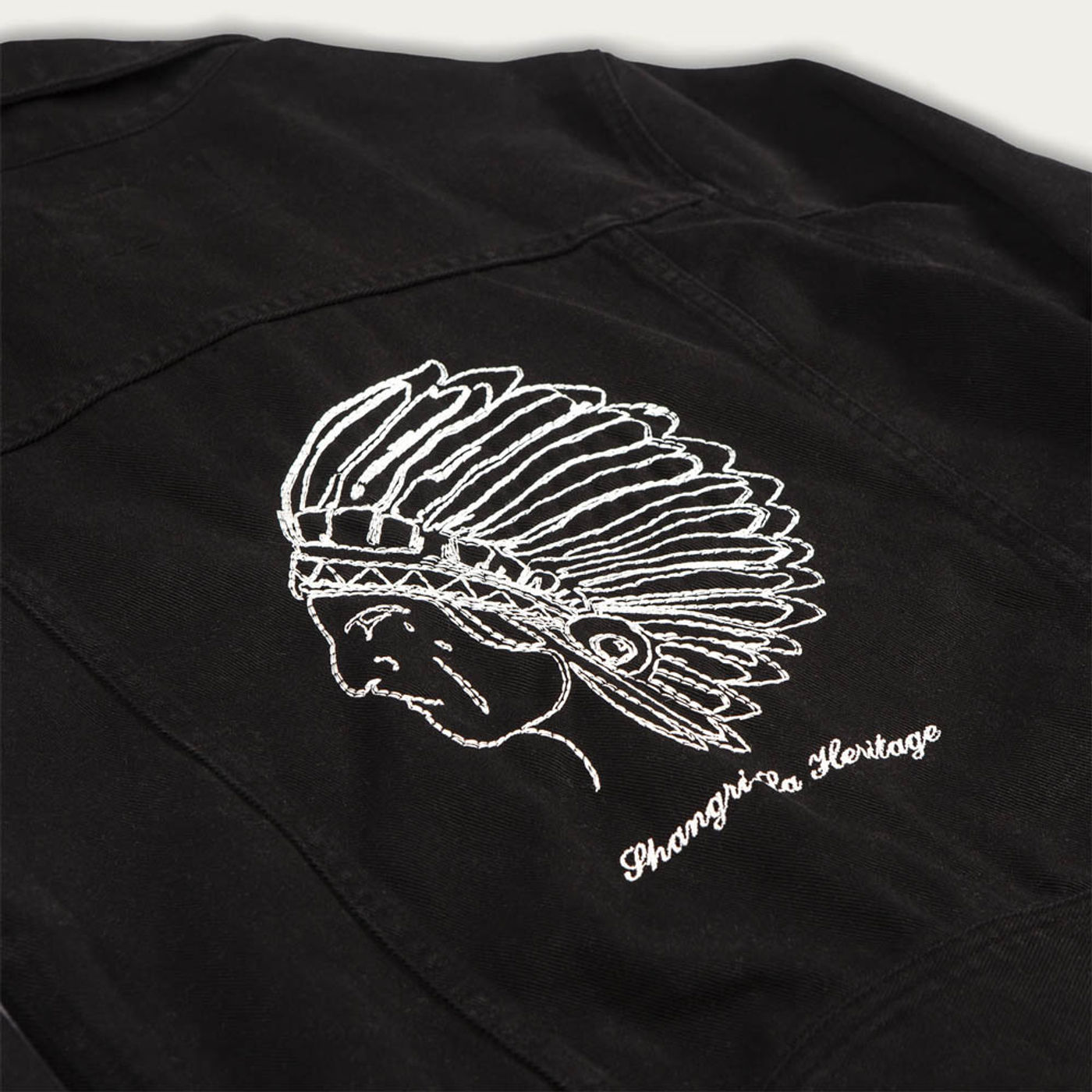 Black Raw Single Rider Canvas Jacket Toro Seduto Limited Edition  | Bombinate