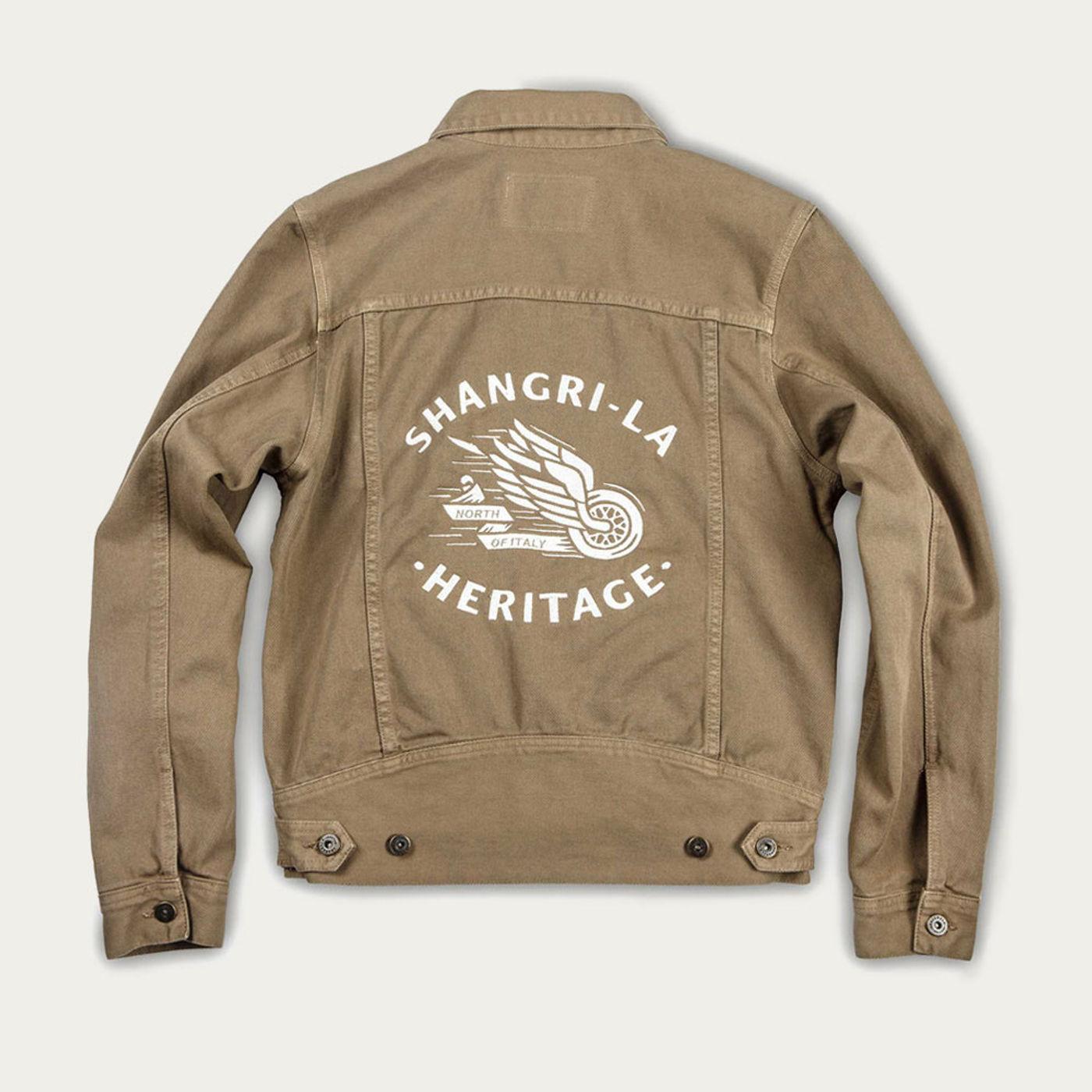 Army Raw Single Rider Canvas Jacket Winged Wheel Limited Edition  | Bombinate
