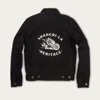 Black Raw Single Rider Canvas Jacket Winged Wheel Limited Edition  | Bombinate