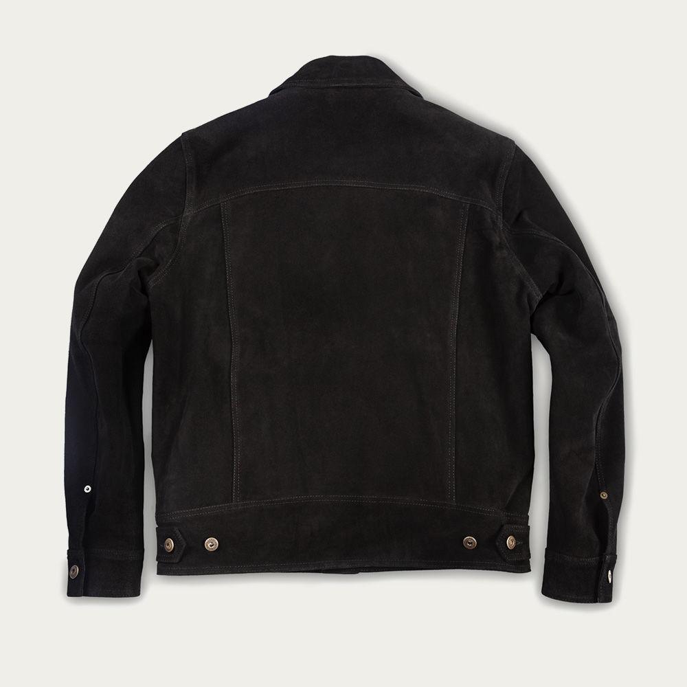 Black Terracotta Suede Jacket    Bombinate