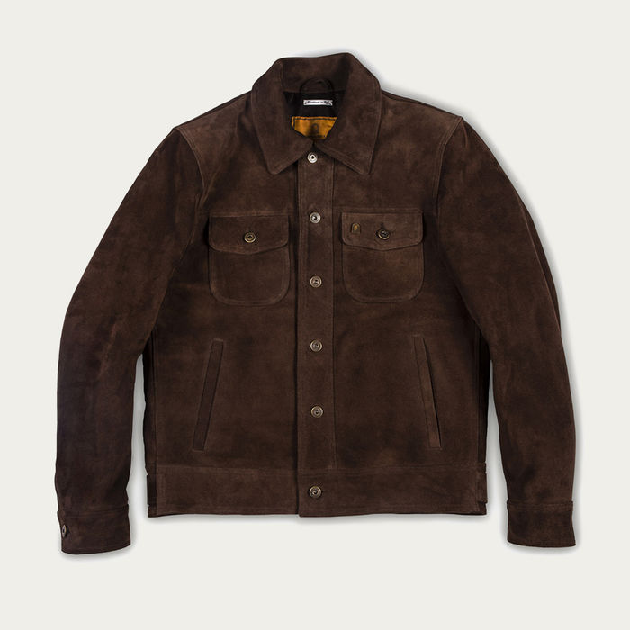 Brown Terracotta Suede Jacket  | Bombinate