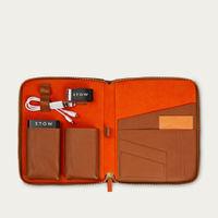 Sahara Tan & Orange The First Class Leather Tech Case   Bombinate