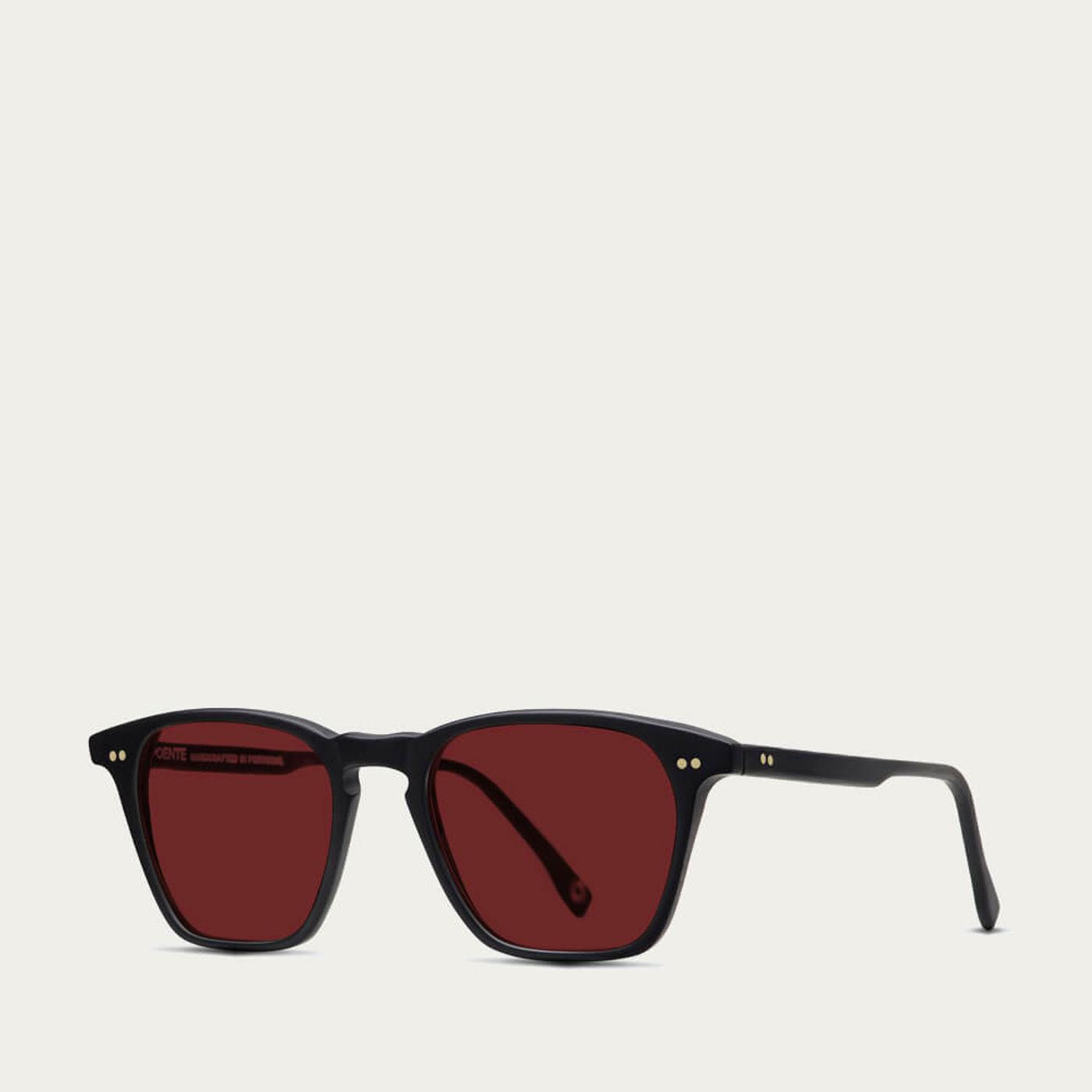 Black Matte w/ Red Lenses Notorious Sunglasses | Bombinate