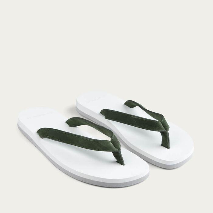 Green Suede Flip-Flops | Bombinate